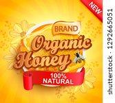 honey organic label splash ... | Shutterstock .eps vector #1292665051