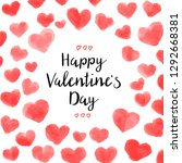 happy valentines day card... | Shutterstock .eps vector #1292668381