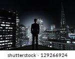 Man Standing On Concrete Room...