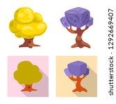 bitmap illustration of tree and ...   Shutterstock . vector #1292669407