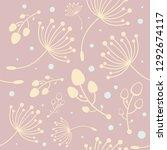 botanical vector seamless...   Shutterstock .eps vector #1292674117