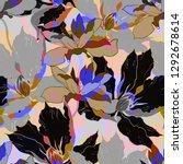 beautiful seamless floral... | Shutterstock . vector #1292678614