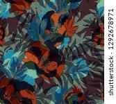 beautiful seamless floral... | Shutterstock . vector #1292678971