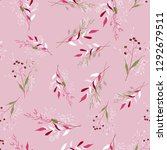 fantasy florals seamless...   Shutterstock .eps vector #1292679511