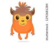 cartoon funny monster with... | Shutterstock .eps vector #1292681284