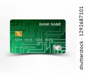 illustration credit card design....   Shutterstock .eps vector #1292687101