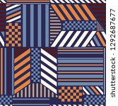 colorful trendy geometric... | Shutterstock .eps vector #1292687677