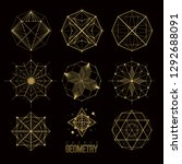 sacred geometry forms  shapes... | Shutterstock .eps vector #1292688091