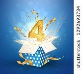 four years anniversary open... | Shutterstock .eps vector #1292693734