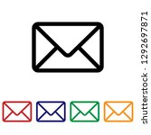 mail icon vector. email | Shutterstock .eps vector #1292697871