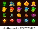 vector big set gaming icons of... | Shutterstock .eps vector #1292698897