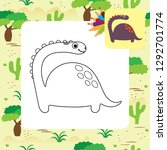 cute dino coloring page. | Shutterstock .eps vector #1292701774