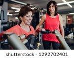 two cheerful seniors women in...   Shutterstock . vector #1292702401