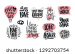set of love confessions ... | Shutterstock . vector #1292703754