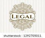 brown rosette or money style...   Shutterstock .eps vector #1292705011