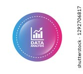 data analysis  graph icon ... | Shutterstock .eps vector #1292706817
