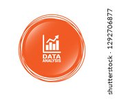 data analysis  graph icon ... | Shutterstock .eps vector #1292706877