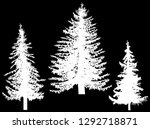 illustration with three fir... | Shutterstock .eps vector #1292718871
