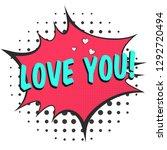 bright red comic speech bubble...   Shutterstock .eps vector #1292720494