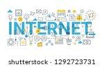 modern flat thin line design...   Shutterstock .eps vector #1292723731