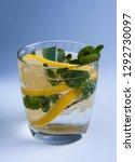 refreshing drink with lemon ... | Shutterstock . vector #1292730097