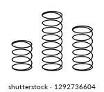 set of black metal flexible... | Shutterstock .eps vector #1292736604