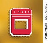 stove sign. vector. magenta... | Shutterstock .eps vector #1292738017
