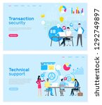 transaction security and... | Shutterstock .eps vector #1292749897