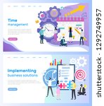 time management and... | Shutterstock .eps vector #1292749957