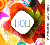 vector indian style holi... | Shutterstock .eps vector #129275891