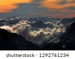 fantastic dreamy sunrise on top ... | Shutterstock . vector #1292761234