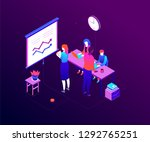 office life   modern colorful... | Shutterstock .eps vector #1292765251