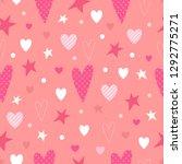 love seamless pattern. hearts ...   Shutterstock .eps vector #1292775271