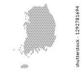 south korea map abstract... | Shutterstock .eps vector #1292781694