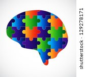 Stock photo mind puzzle raster version of the loaded vector 129278171