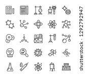 biochemistry line vector icons  | Shutterstock .eps vector #1292792947