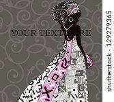 american bride vector. ethnic...   Shutterstock .eps vector #129279365