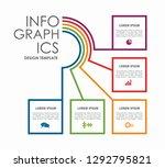 infographic design template...   Shutterstock .eps vector #1292795821