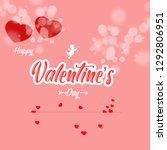 happy valentine's day 2019 on... | Shutterstock . vector #1292806951