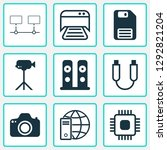 hardware icons set with floppy... | Shutterstock .eps vector #1292821204