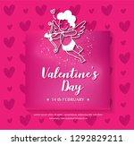 valentines poster template... | Shutterstock .eps vector #1292829211