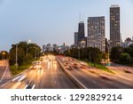 chicago  traffic on highway... | Shutterstock . vector #1292829214