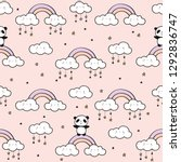 seamless pattern with cute... | Shutterstock .eps vector #1292836747