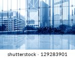 glass wall in the office... | Shutterstock . vector #129283901