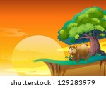 illustration of a bear near a...
