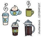 set of coffee vector... | Shutterstock .eps vector #1292849107