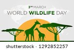 green and orange world wildlife ... | Shutterstock .eps vector #1292852257