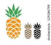 pineapple   Shutterstock .eps vector #129286799