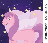 cute unicorn design   Shutterstock .eps vector #1292868577