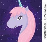 cute unicorn icon   Shutterstock .eps vector #1292868667